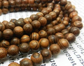 108pc   Indian  Natural  Rose  wood  Tibetan prayer   Mala   Bead