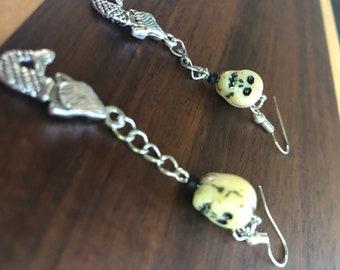 Skull & Mermaid Earrings