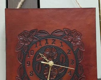Hand Crafted Leather Clock
