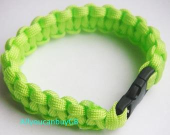 Handmade LIME GREEN 550 Paracord Survival Bracelet /wristband