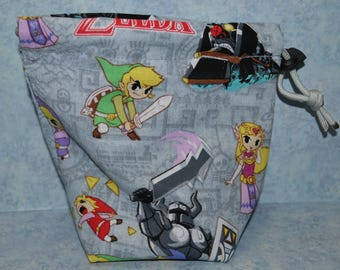 Legend of Zelda Cartoon Drawstring Dice Bag for X-Wing/Armada/RPG/D&D/Warhammer