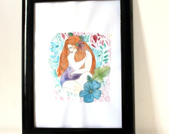 Original illustration, character, * mystical wife * daughter, jungle, nature