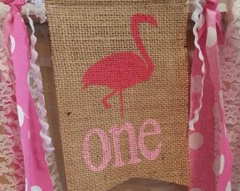 Flamingo Banner, Flamingo Party Decor, Flamingo Decorations, Flamingo Garland, Bird Decorations, Bird Party Decor, Bird Theme Banner