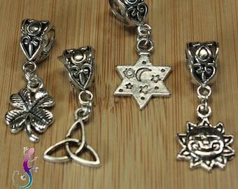 Set of 4 pendants charms