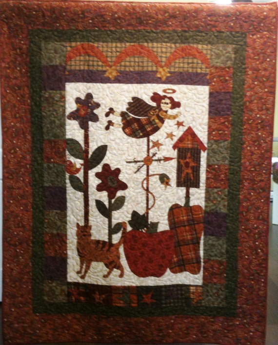 I Believe in Country Angels Art Quilt