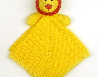 Lion Security Blanket - PDF Crochet Pattern - Instant Download
