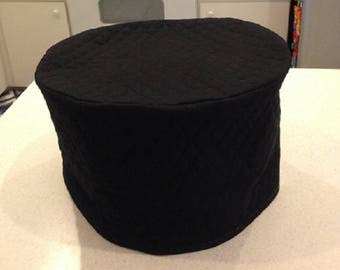 Black Oval Crock Pot Small Appliance Covers Slow Cooker Quilted Fabric Gifts for Mom Ready To Ship
