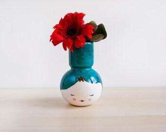 Geisha ceramic vase, Ceramics & pottery vase, Original planter, Small vase, Geisha ceramic vase, Japanese ceramic, Japanese pottery, ceramic