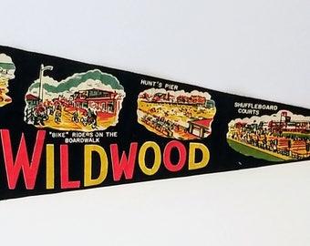 Wildwood, New Jersey - Vintage Pennant