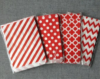 8 bags for birthday gouters red candy