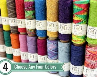 0.5mm Hemp Twine, 4 Spool Deal, Micro Macrame Cord, Choose Your Colors