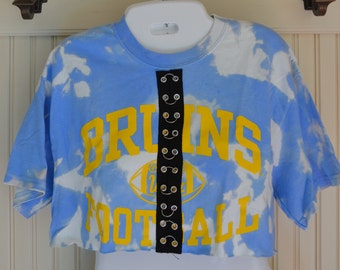 UCLA Bruins Cropped Tee with Center Trim
