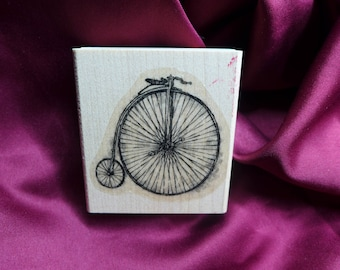 Old Timey Bicycle / Bike / Rubber Stamp