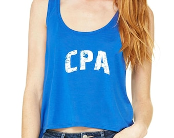 Costume Tank Top Are You the C P A?  Women's Boxy Tank Top