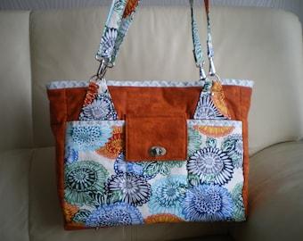 Handbag, tote bag, tote bag, beach bag, cotton Messenger bag, worn shoulder or arm.