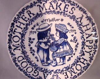 1974 Mother's Day Plate Vintage England