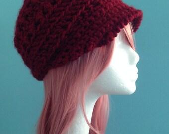 Made to Order. Customizable hat. Beautiful Crochet Newsboy Cap. Girls, Teens or Women's hat. Custom Crochet Cap. Trendy Crochet Newsboy Cap.