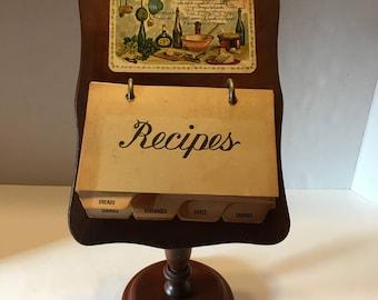 Vintage Wooden Recipe Holder