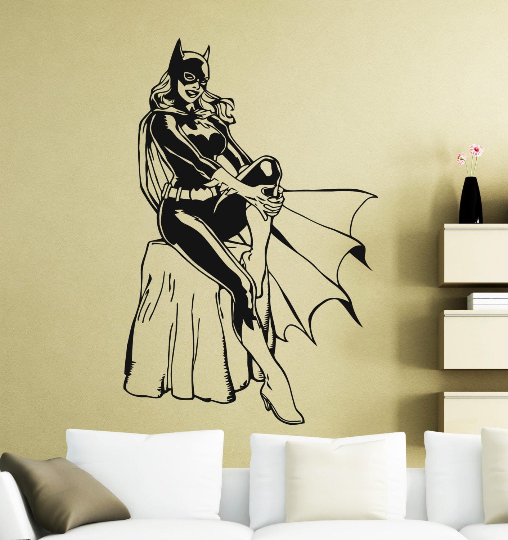 Batgirl Wall Sticker Superhero DC Marvel Comics Vinyl Decal