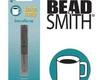 Coffee Cup Metal Design Stamp 6 mm Steel Punch Beadsmith Coffee Mug, Steel Stamp
