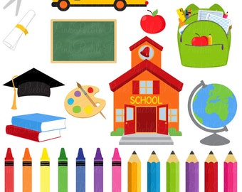 School Clipart Clip Art, Graduation Teacher Education Clipart Clip Art Vectors - Commercial and Personal Use