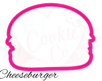 Cheeseburger cookie cutter