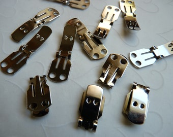 20 Pieces of Nickel Plated Shoe Clip Blanks (10 pairs), Buy More Save More