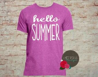 Summer Shirt , Hello Summer ,Last Day Of School Shirt, Teacher Shirt,  Teacher