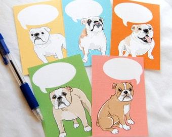 Convo Bulldog Valentines - Eco-friendly Set of 5
