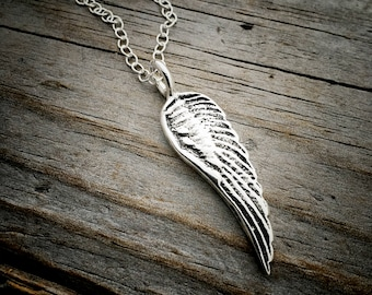 Sterling Silver Angel Wing Necklace Wild Prairie Silver Jewelry