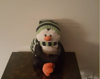 Plush Penguin With Hat And Scarf