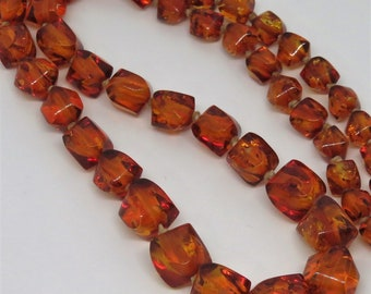 Beautiful Vintage Golden Honey Baltic Amber Necklace