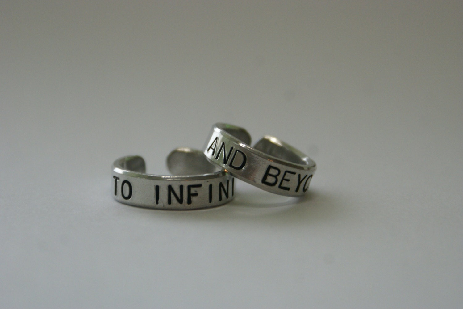 To Infinity and beyond rings Set of 2 BFF ring Sister