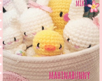 Little duck plush, Amigurumi duck, cute crochet duck, duck amigurumi, kawaii duck amigurumi, Easter plush