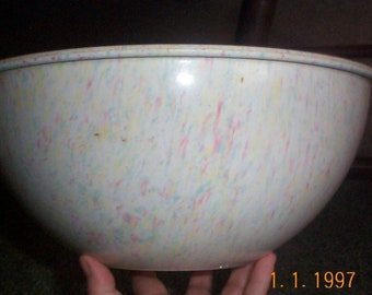 Mid century modern Melmac Confetti bowl  large 11 1/2 inches