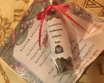 Frankincense & Myrrh Yule Gift Pagan Wicca