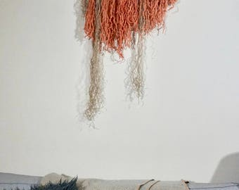 Coral Wooly Wall Hanging