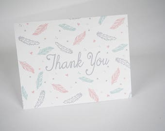 SALE! - Thank You Cards - Boho Baby Shower. Baby Shower. Thank You.