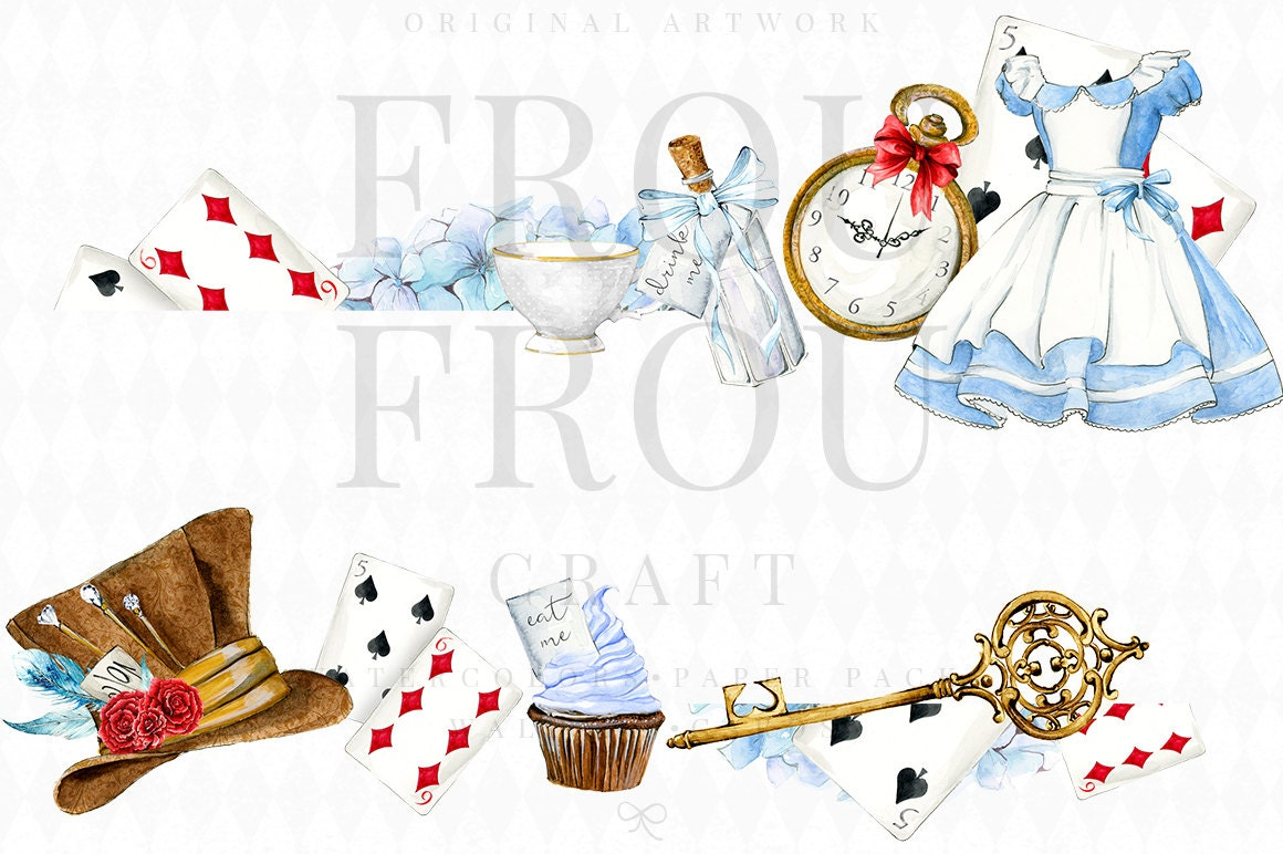 Alice In Wonderland Clipart Alice Clip Art Watercolor
