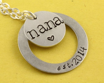 Nana Necklace - Grandma Necklace - Personalized Necklace - New Baby Necklace - Mother's Day Gift - Gift For Nana - Gift For Grandma - Custom