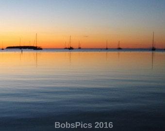 Sunset over Ephraim Harbor, WI