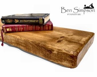 Floating Shelves Shelf Mantel Rustic Chunky Wooden Solid Handmade Bespoke 22cm Depth F22