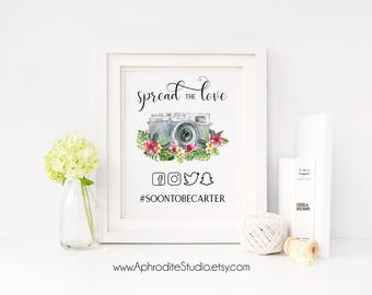 Tropical if you instagram sign - Printable instagram wedding sign - beach wedding instagram sign - beach wedding hashtag sign - AS-TR125