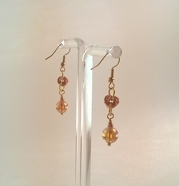 S - 483 earrings - quartz