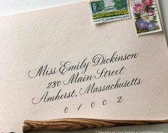 Calligraphy Envelope Addressing in Emily Script