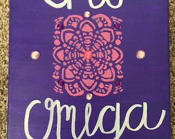 Chi Omega Mandala Canvas (Customizable)