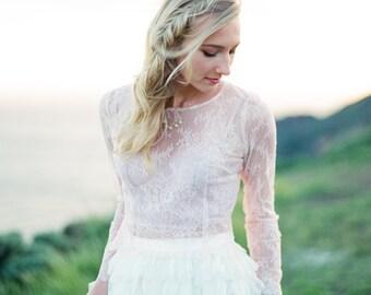 Bridal lace top | Etsy