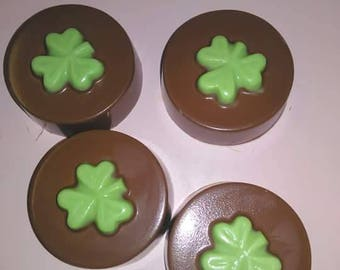 St. Patrick's Day chocolate covered cookies