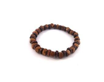 Mens bracelet wood