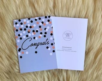 Congrats Confetti Card